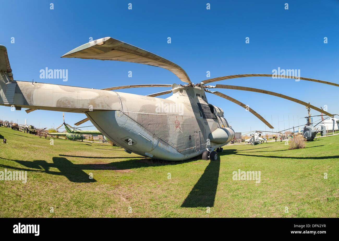 Heavy military transport helicopter Mi-26 'Halo' - Stock Image