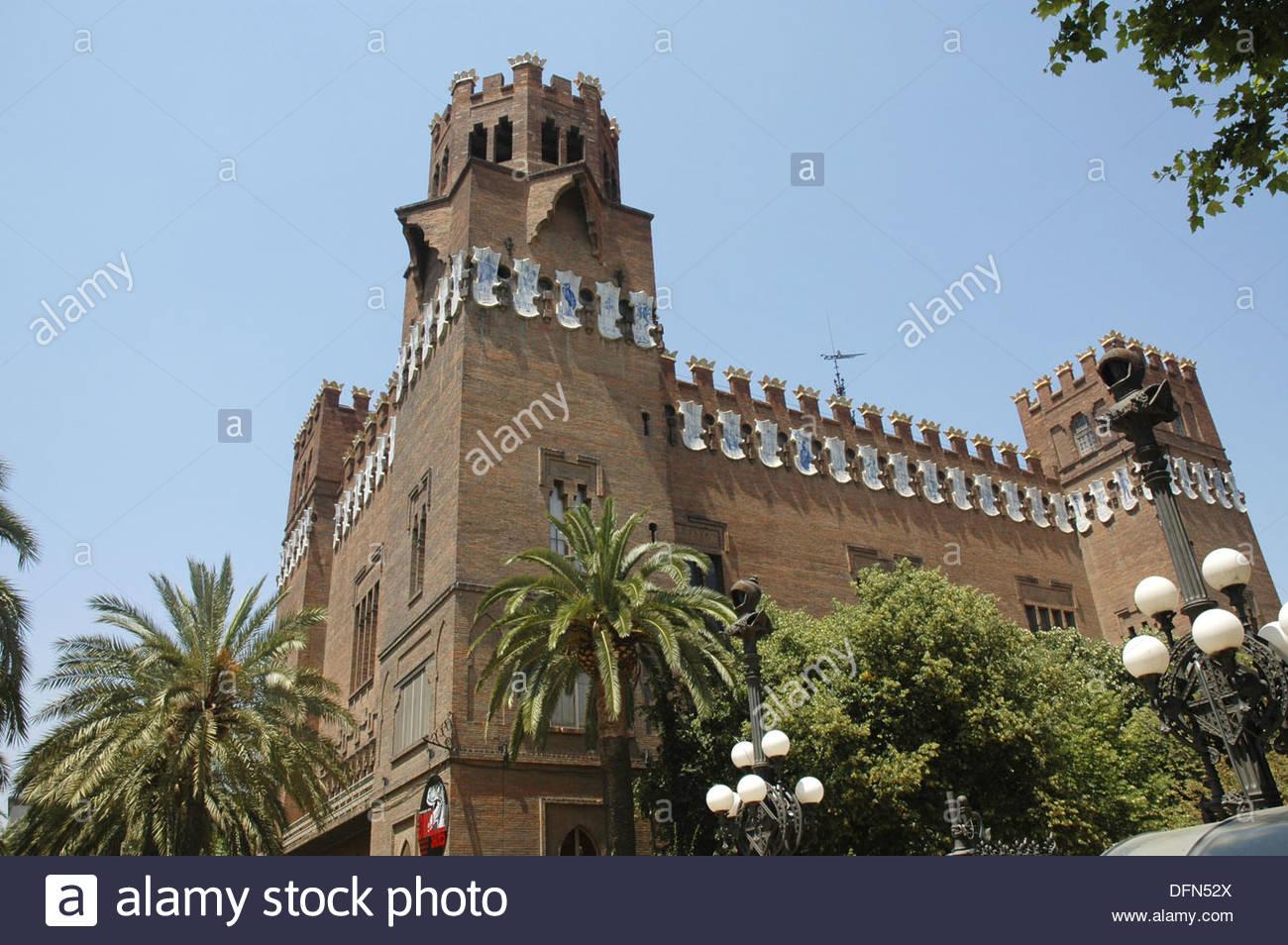 Zoology Museum. Ciutadella Park. Barcelona. Catalonia. Spain. - Stock Image