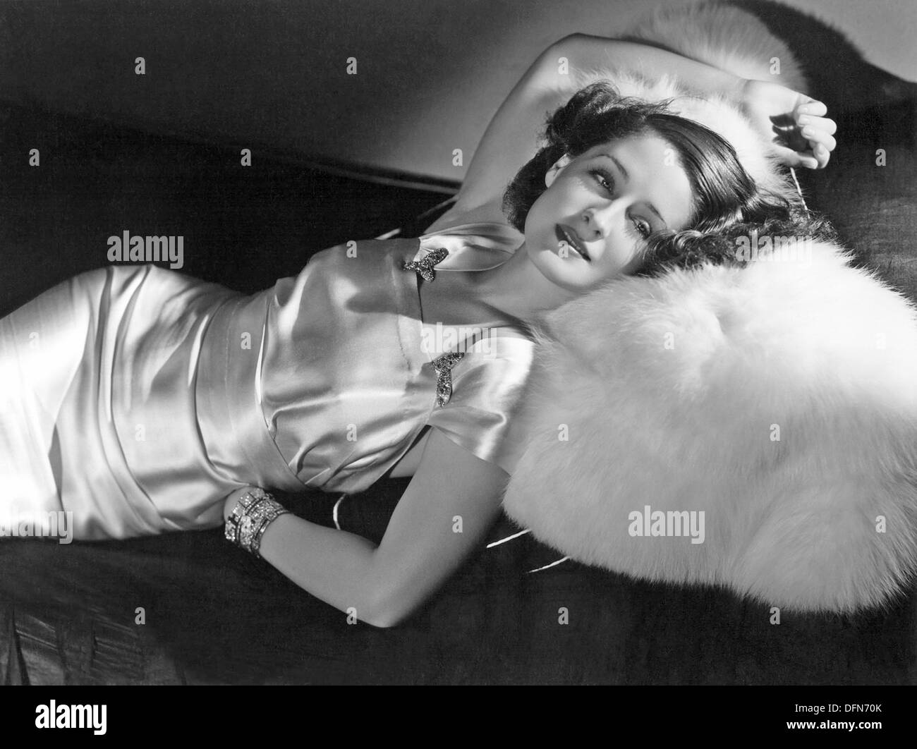 NORMA SHEARER (1902-1983) Canadian-American film actress - Stock Image