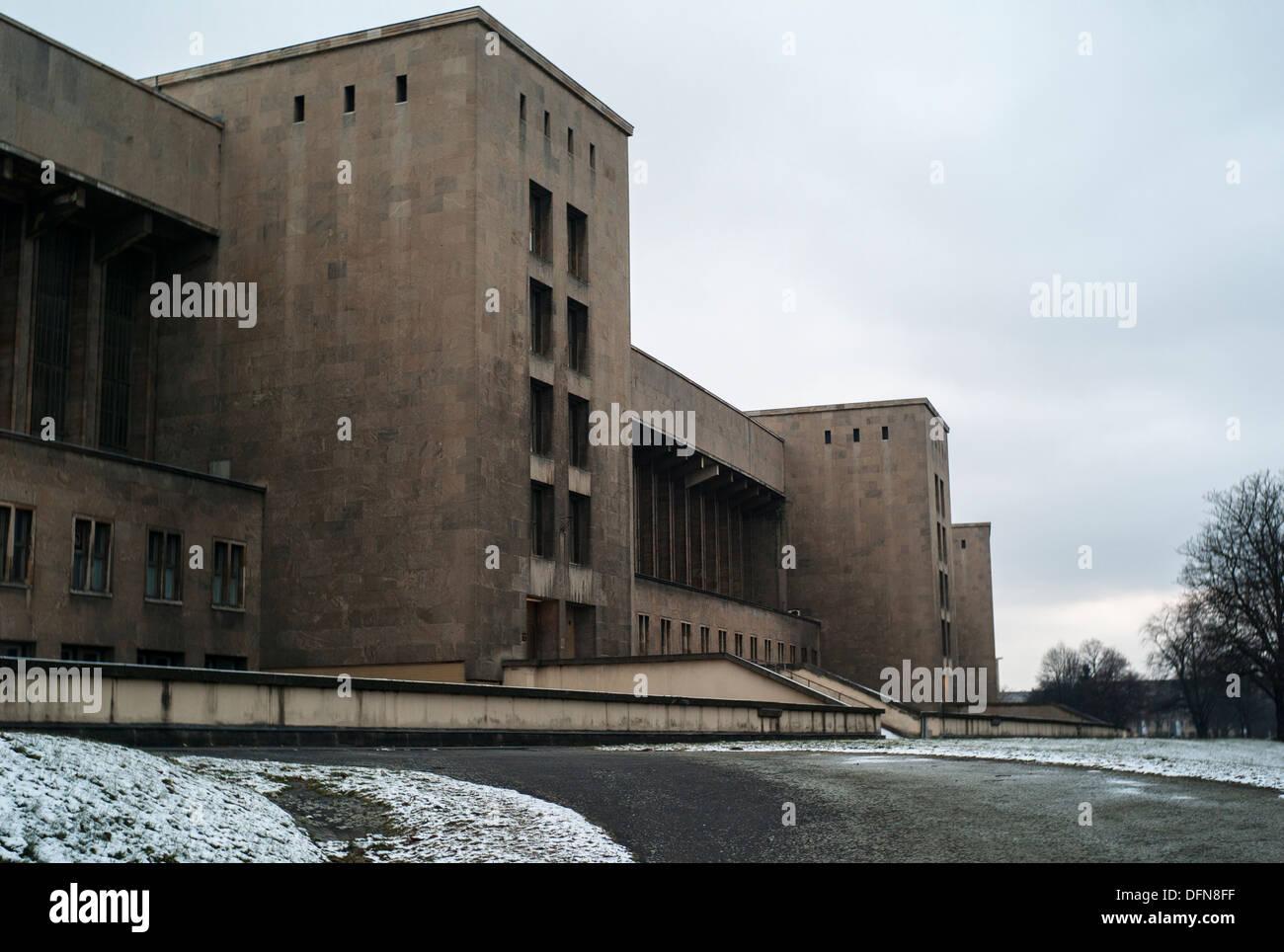Berlin Tempelhof Airport building - Stock Image