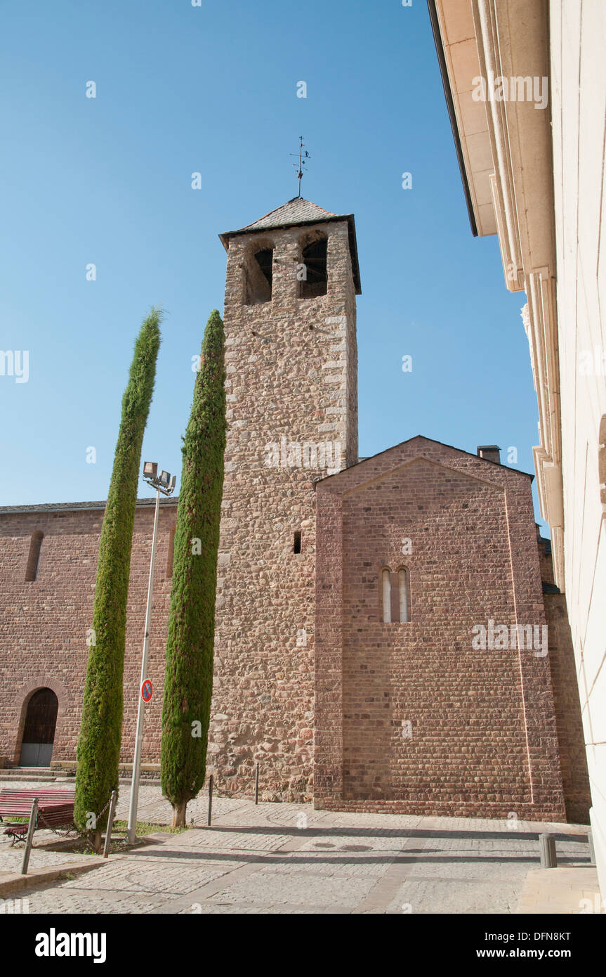 Church besides the cathedral of Seu d´Urgell, Spain. - Stock Image