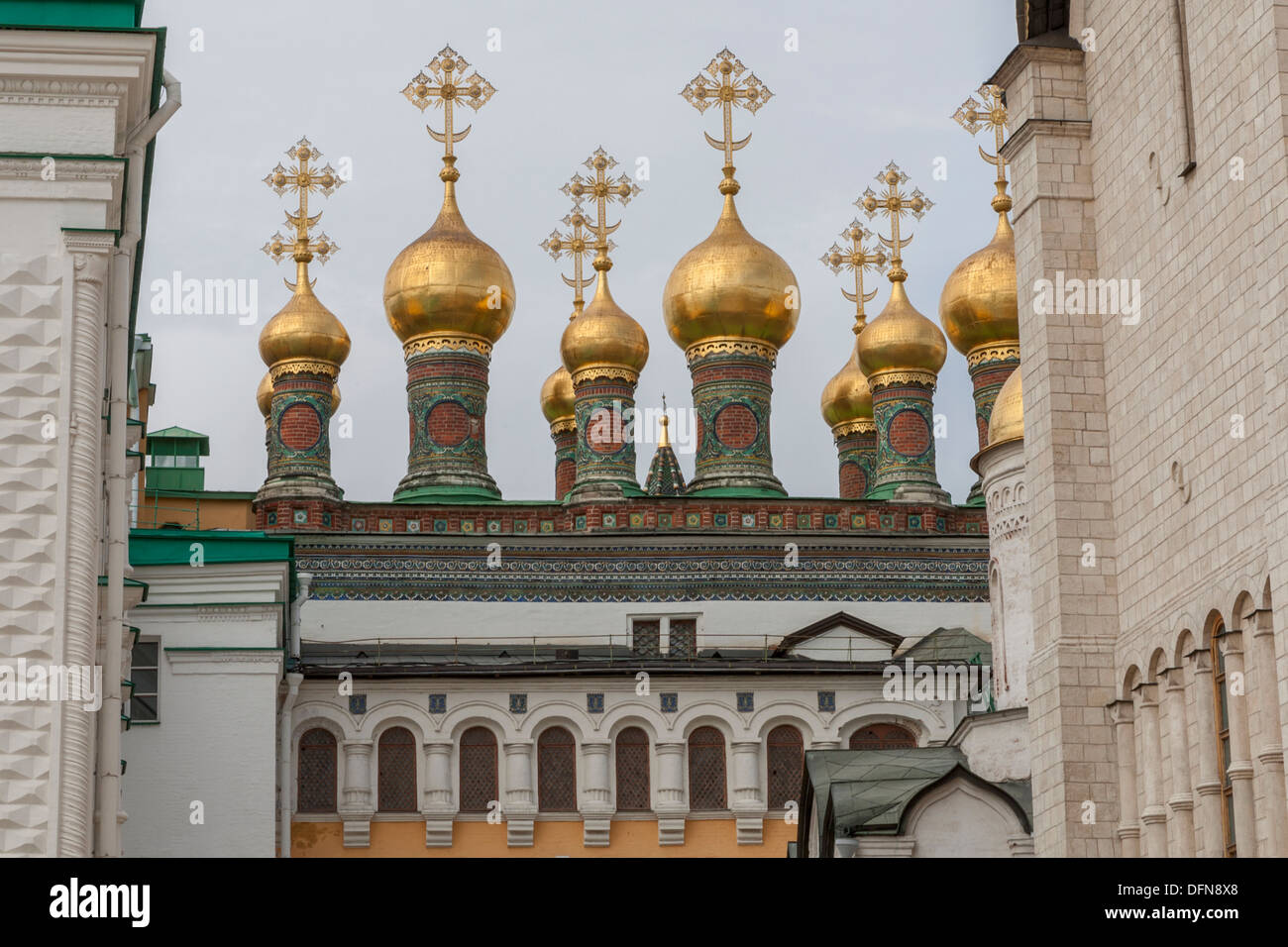 The Church of Laying Our Lady's Robe Kremlin Moscow - Stock Image