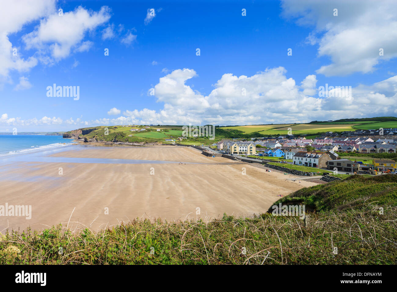 Broad Haven St Brides Bay Pembrokeshire Wales - Stock Image