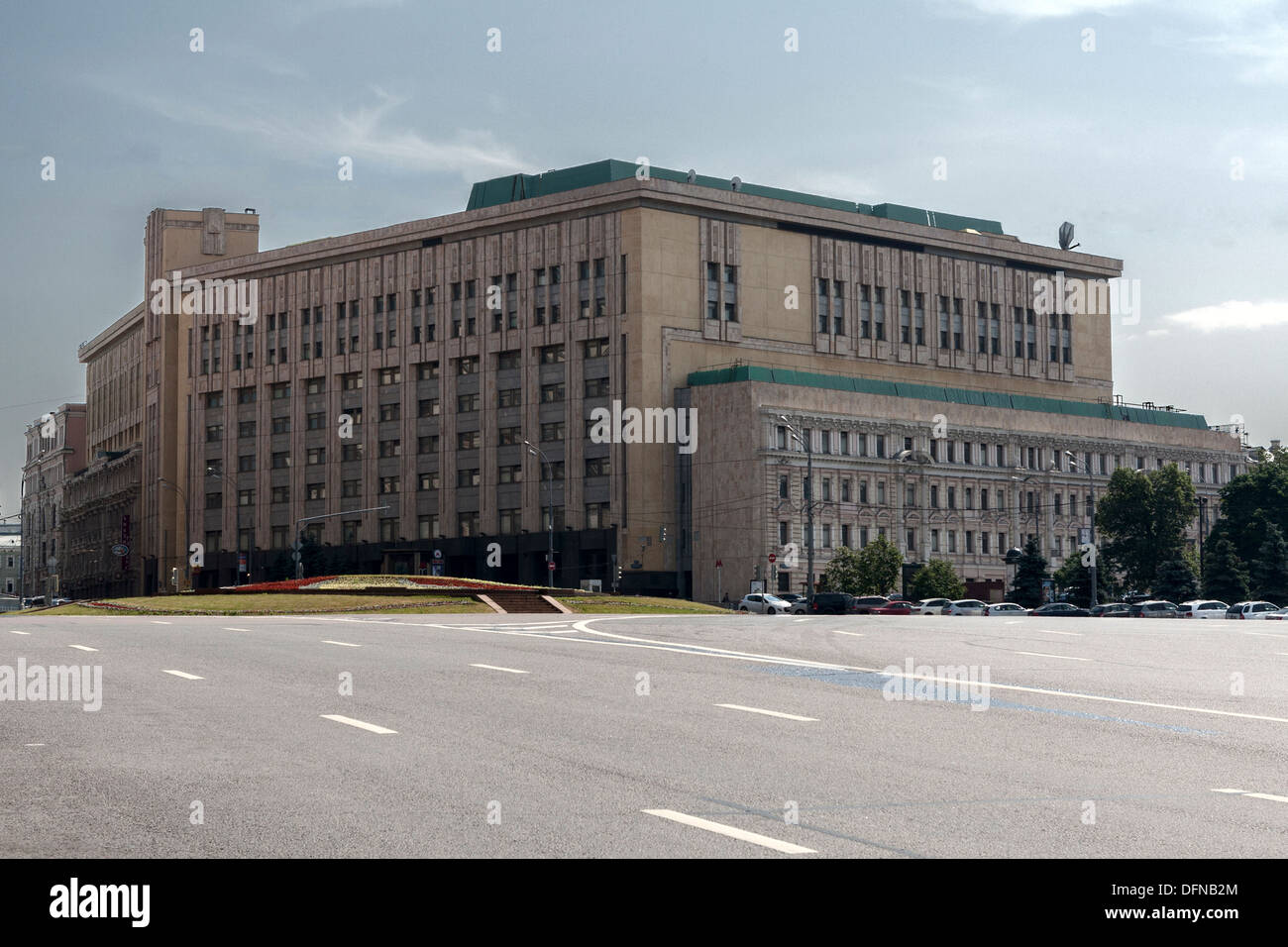 Former KGB Building Lubyanka Moscow Russia - Stock Image