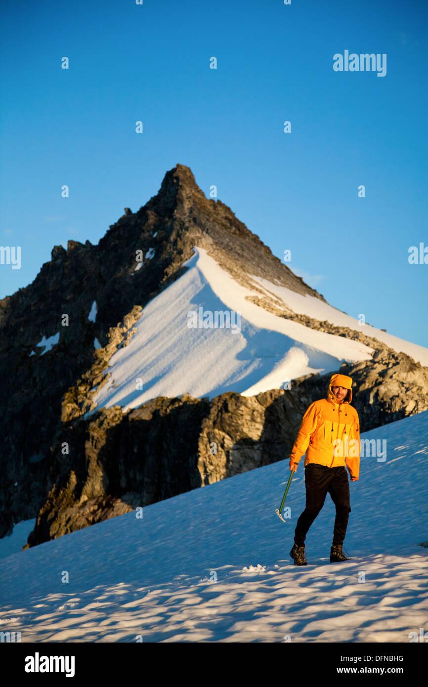 Climbing Cypress Peak - Stock Image