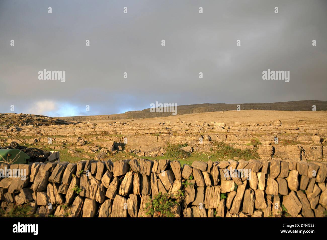 The Burren landscape, Co Clare, Ireland, Europe - Stock Image