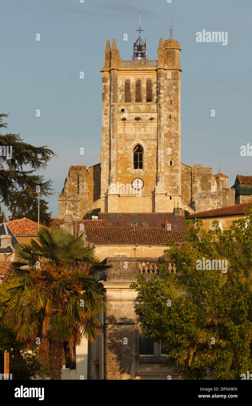 Cathedral Sainte-Pierre, cathedral, gothic, Condom, Condom-en-Armanac, Department Gers, Region Midi-Pyrenees, Via Podiensis, Cam - Stock Image