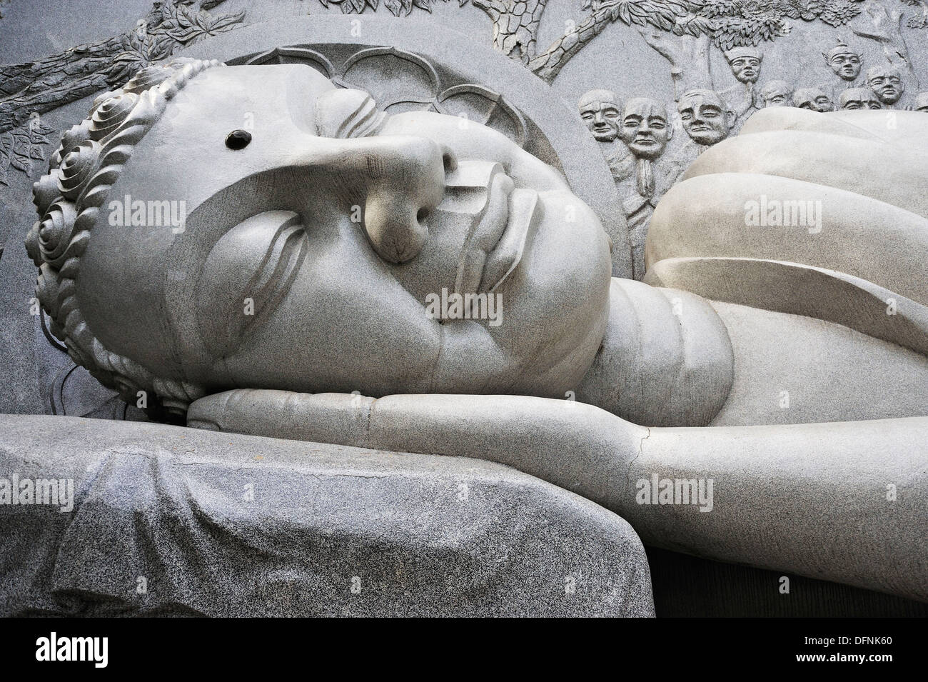 Lying Buddha statue, Long Son Pagoda, Nha Trang, Vietnam Stock Photo