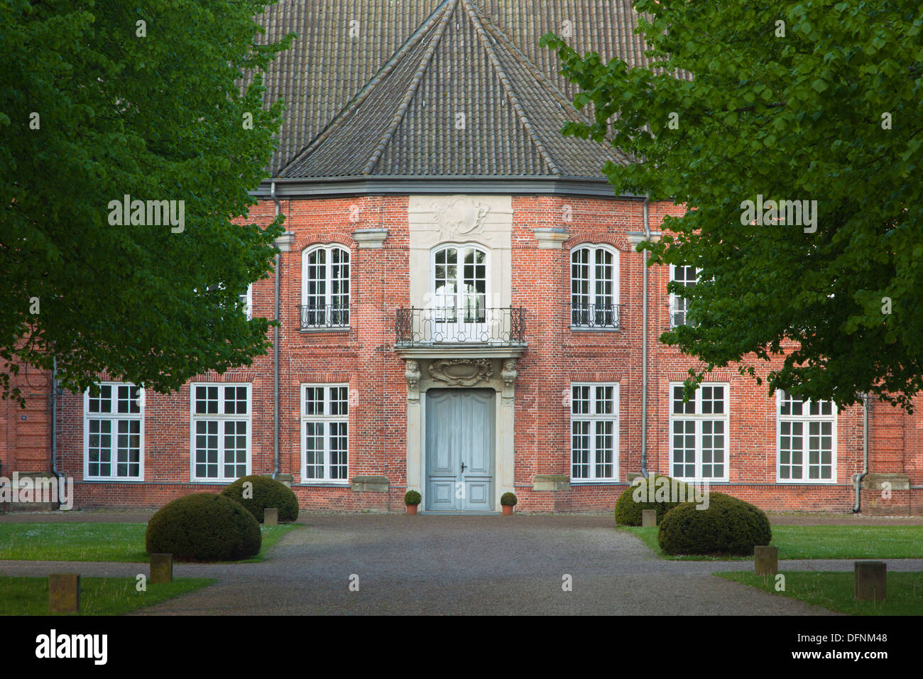 Princes house at the castle, Ploen, nature park Holsteinische Schweiz, Baltic Sea, Schleswig-Holstein, Germany, Europe - Stock Image