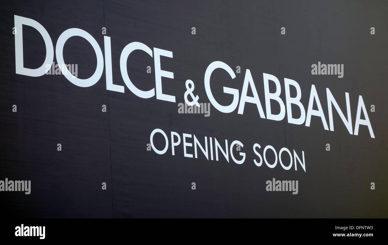 Dolce & Gabbana shop in China - Stock Image