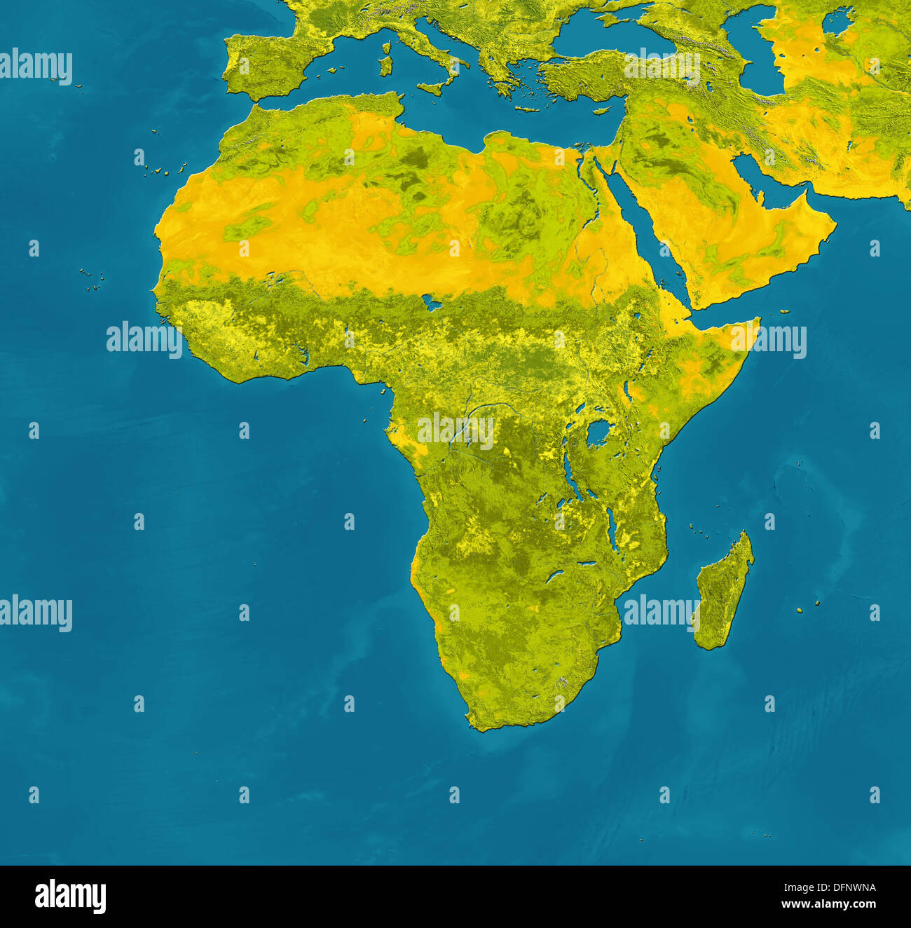 Satellite View Africa Map Stock Photos Satellite View Africa Map