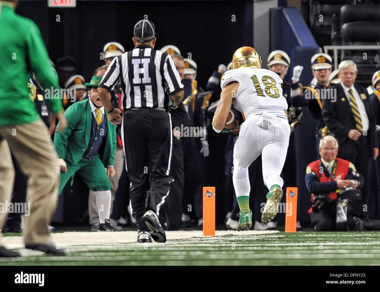 Ben Koyack Notre Dame Fighting Irish Football Jersey Navy Stripe