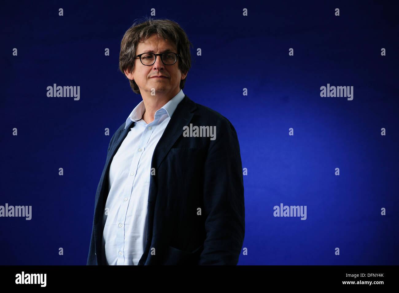 Alan Rusbridger, Editor of The Guardian and author, attending at the Edinburgh International Book Festival 2013. - Stock Image