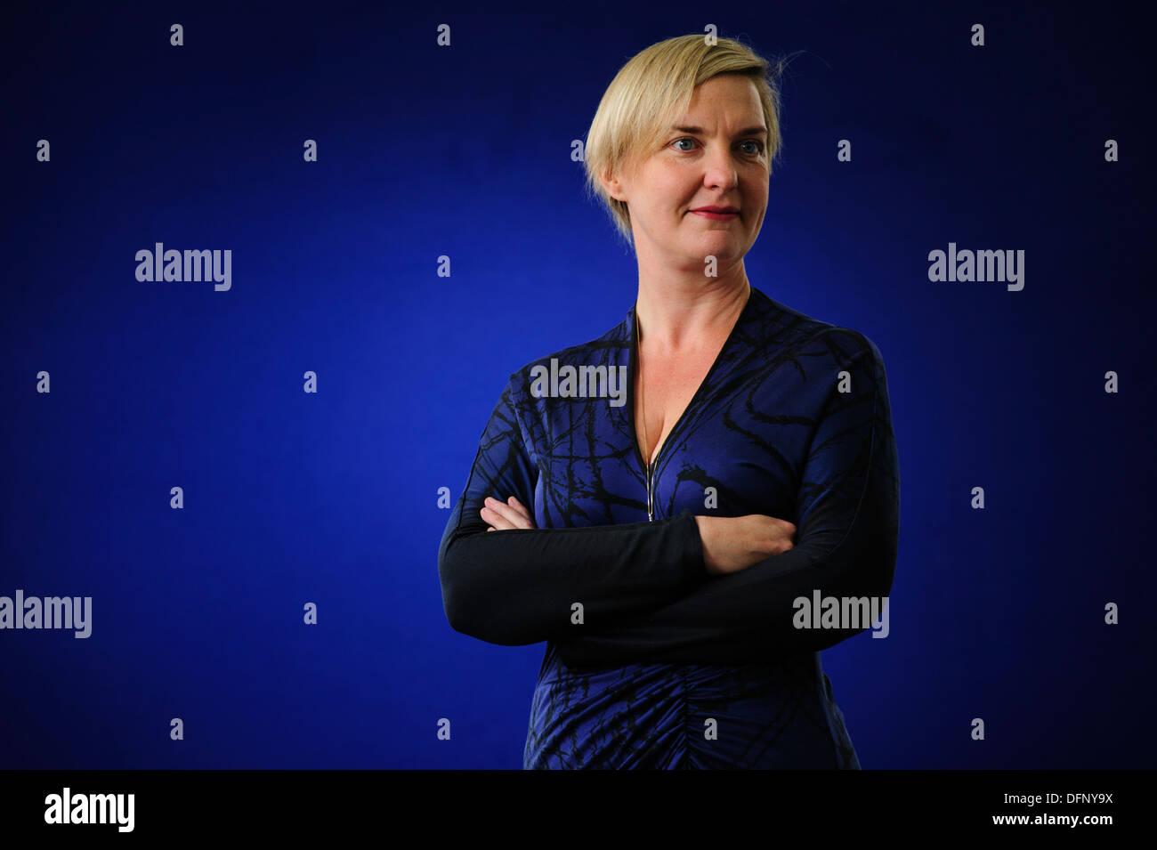 Charlotte Higgins, The Guardian chief arts reporter, attending at the Edinburgh International Book Festival 2013. - Stock Image
