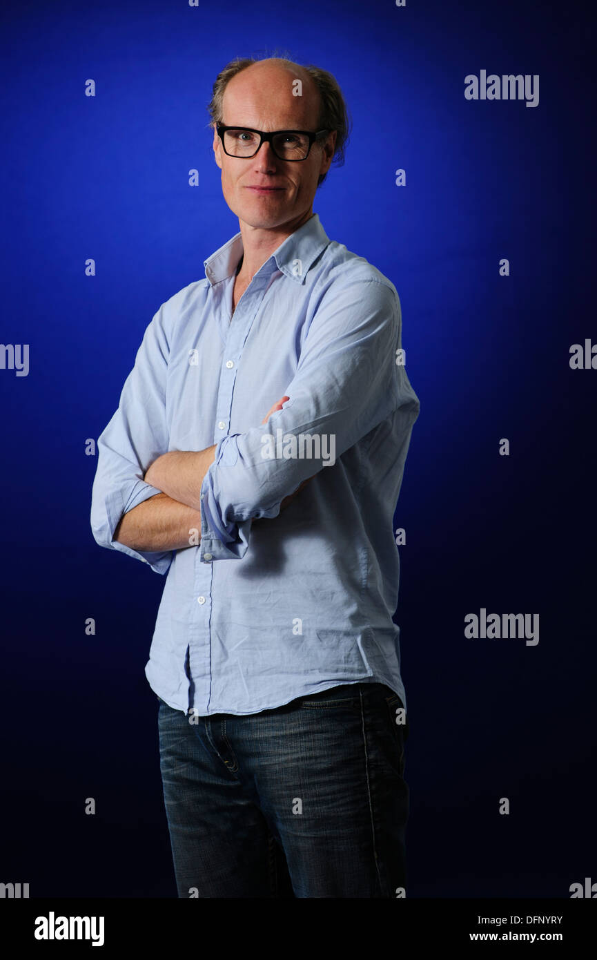 William Gompertz, BBC's Arts Editor, attending the Edinburgh International Book Festival, Thursday 22nd August 2013. - Stock Image