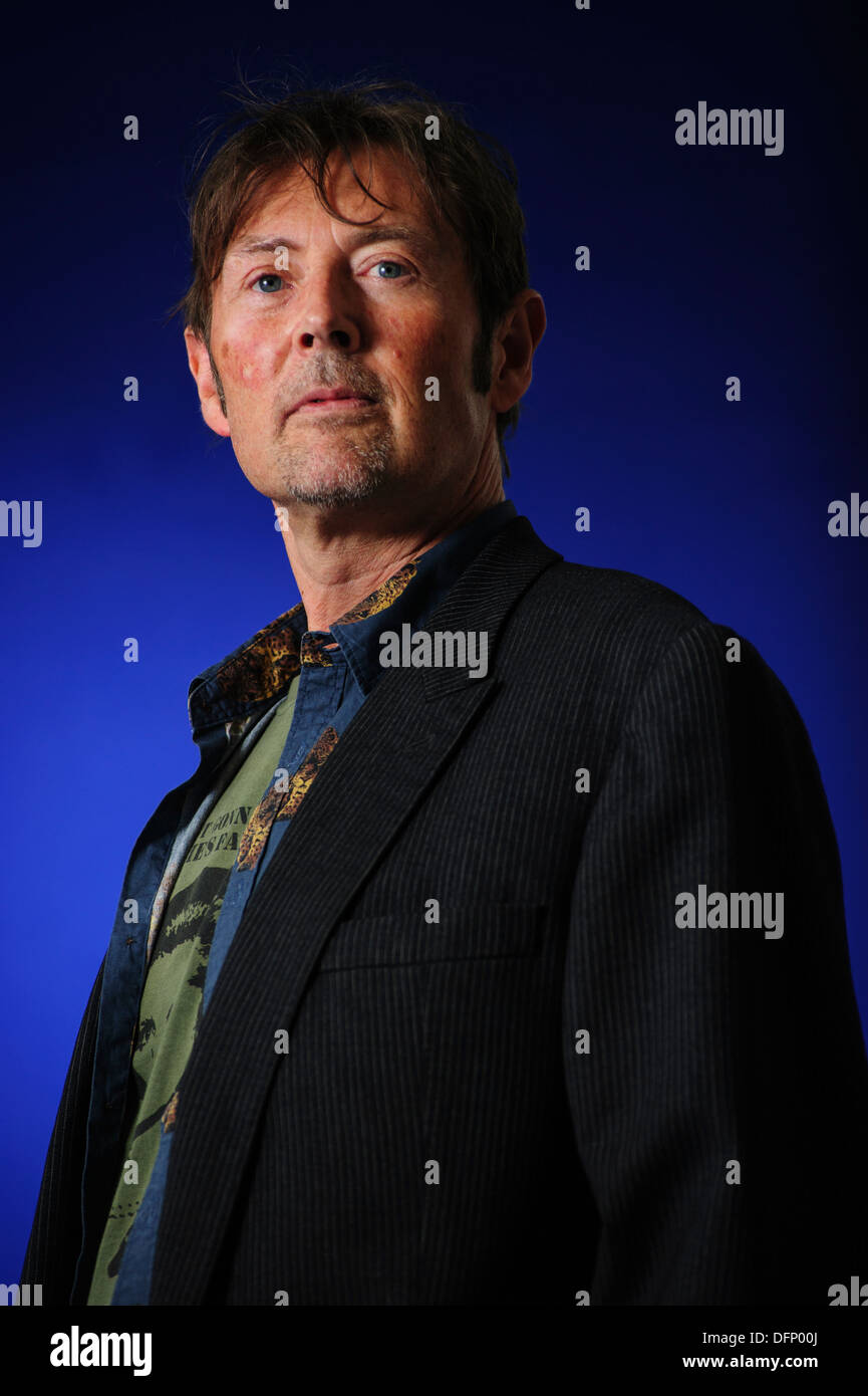 DBC Pierre, Man Booker Prize winning author, attending the Edinburgh International Book Festival, Thursday 22nd August 2013. - Stock Image