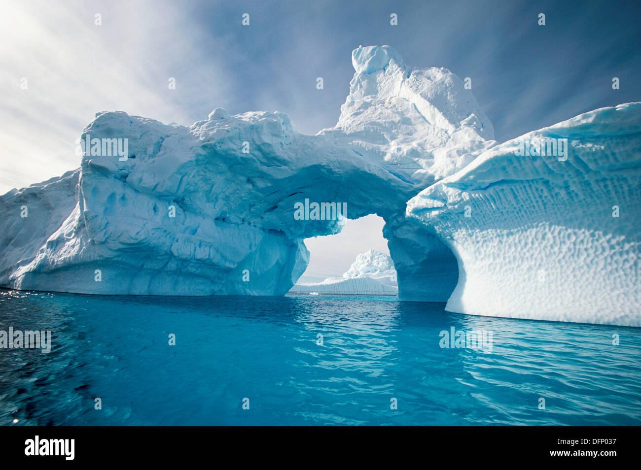 Iceberg in Andvord Bay. Antartica - Stock Image