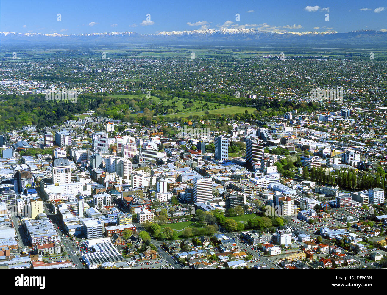 Christchurch New Zealand News: Central City And Hagley Park From The Air Christchurch New