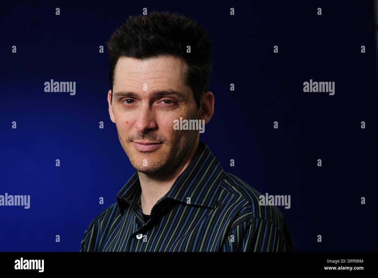 Matt Kaplan, Science journalist, author and adventurer, attending the Edinburgh International Book Festival 2013. - Stock Image