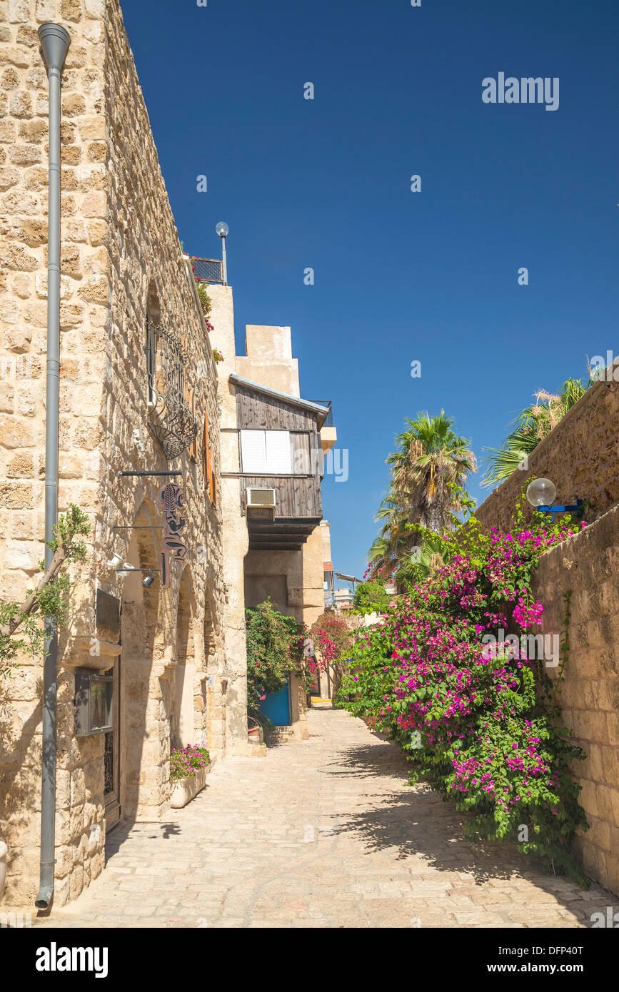 street in jaffa old town of tel aviv israel Stock Photo