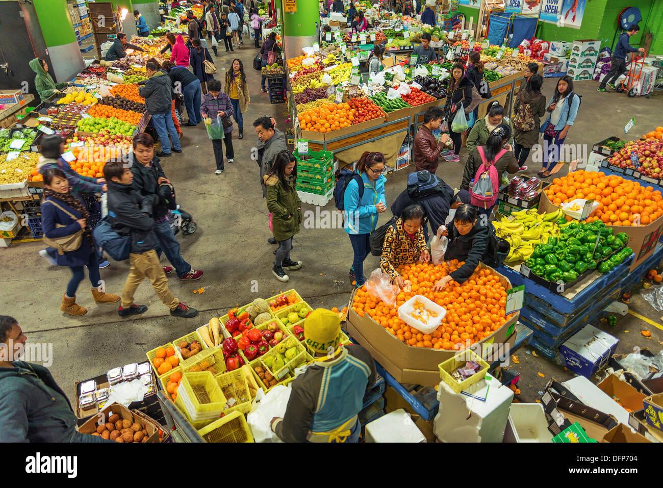 paddy's markets interior in sydney australia - Stock Image
