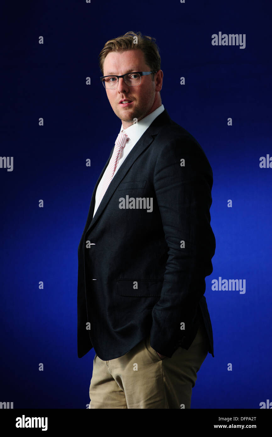 Damian Barr Writer, columnist, playwright and salonnière, attending at the Edinburgh International Book Festival Stock Photo