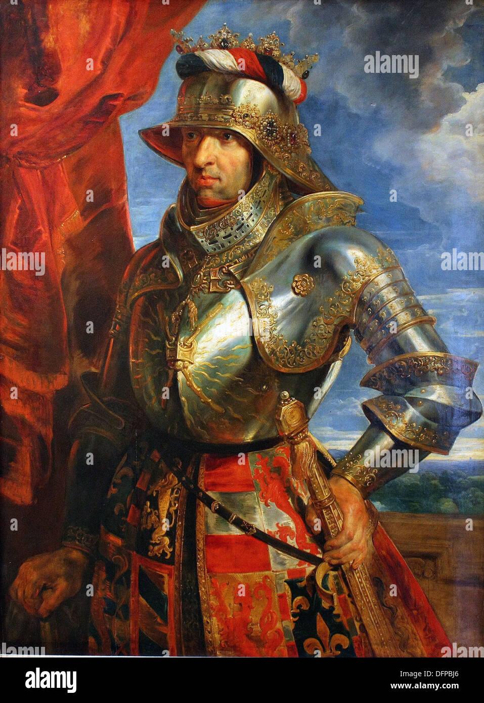 Peter Paul RUBENS - Emperor Maxmilian I - 1618 - Kunsthistoriches Museum - Vienna - Stock Image