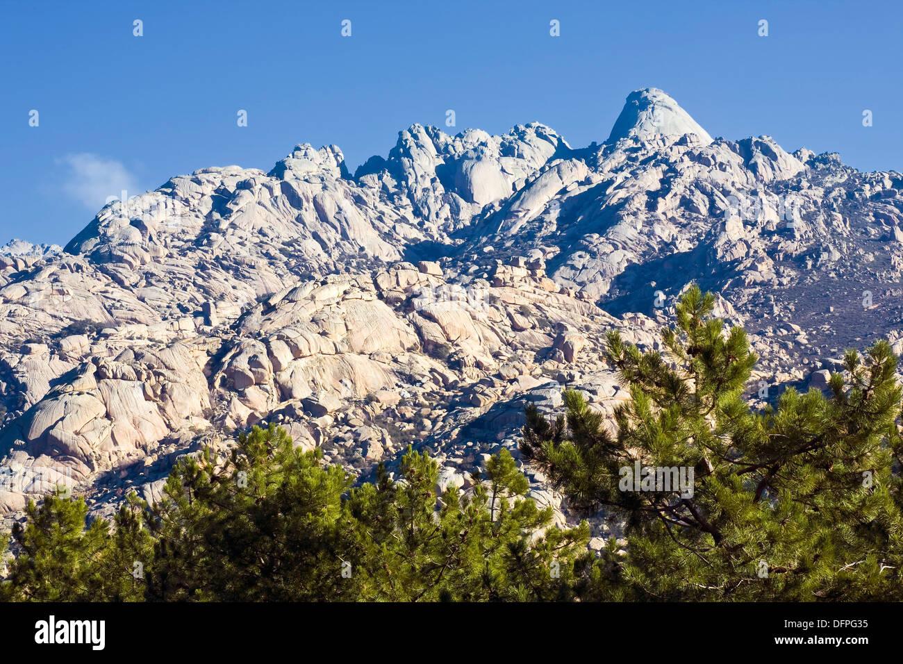 La Pedriza Anterior  Parque Regional de la Cuenca Alta del Manzanares  Comunidad de Madrid  España - Stock Image