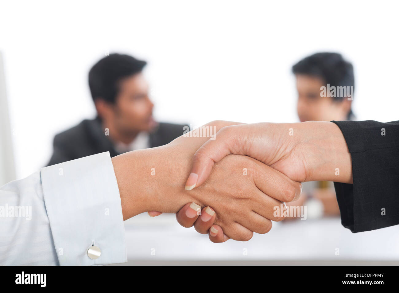 Indian White Hands Shaking Stock Photos & Indian White Hands