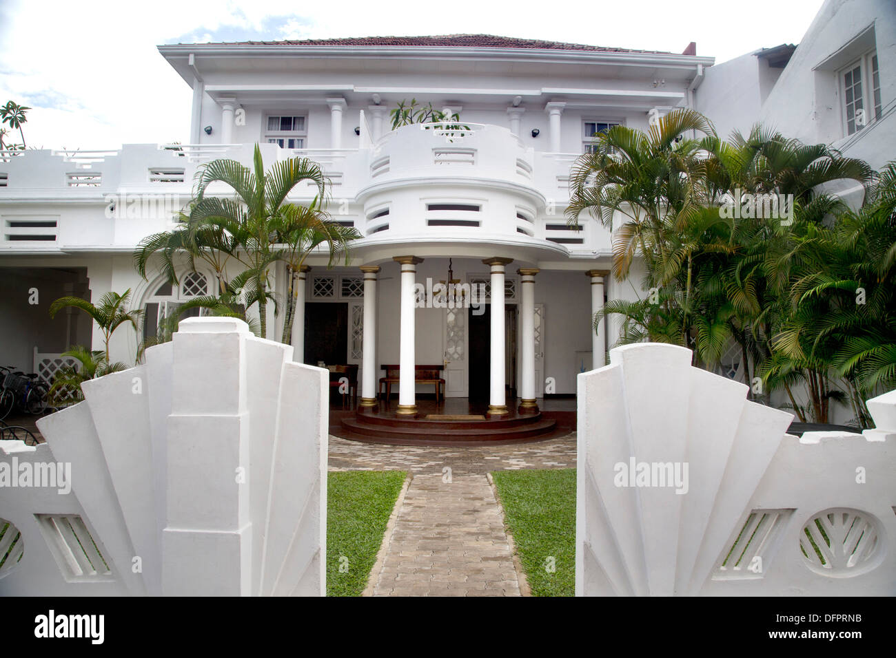 Deco Hotel in Galle Art Deco 1930's style hotel - Stock Image