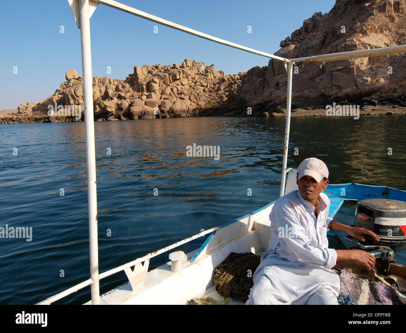 Nile river  Upper Egypt - Stock Image