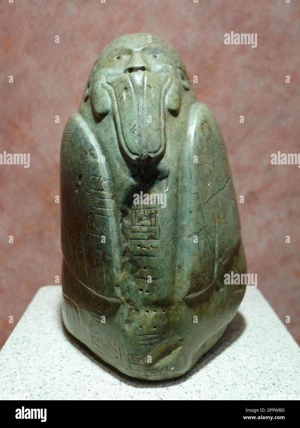Jade personage. Museo Nacional de Antropologia. Ciudad de Mexico - Stock Image