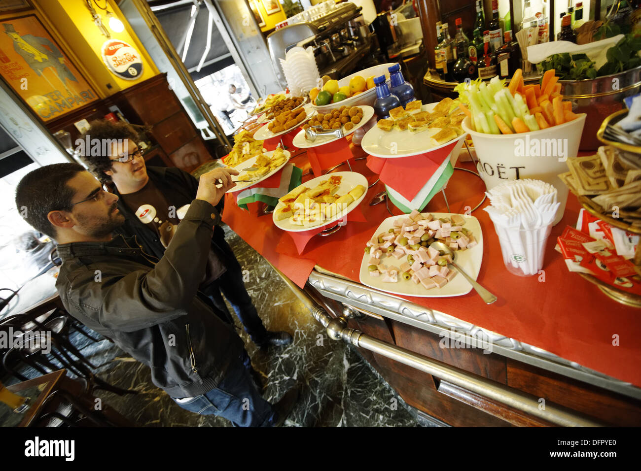 Italy, Lombardy, Milan, Bar Magenta, Aperitivo, - Stock Image