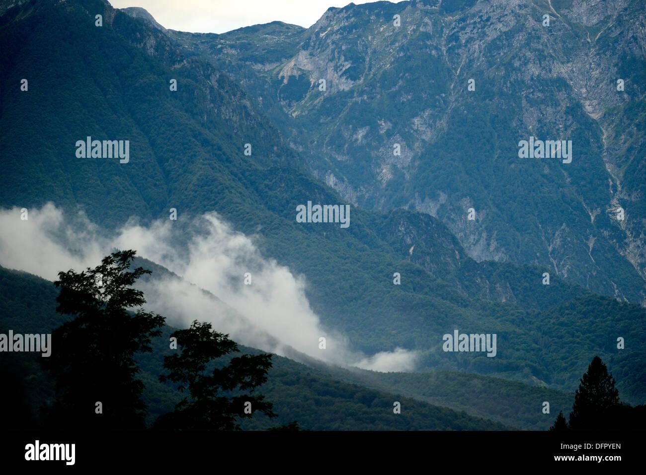 Italian Valcellina Landscape from Andreis Stock Photo