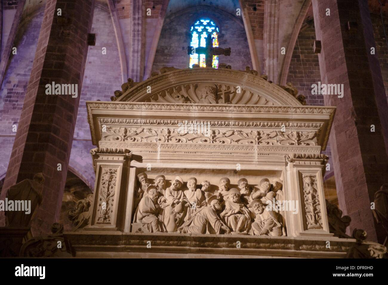 Cathedral XIII-XX centuries Mallorca Palma Mallorca Spain Balearic Islands - Stock Image