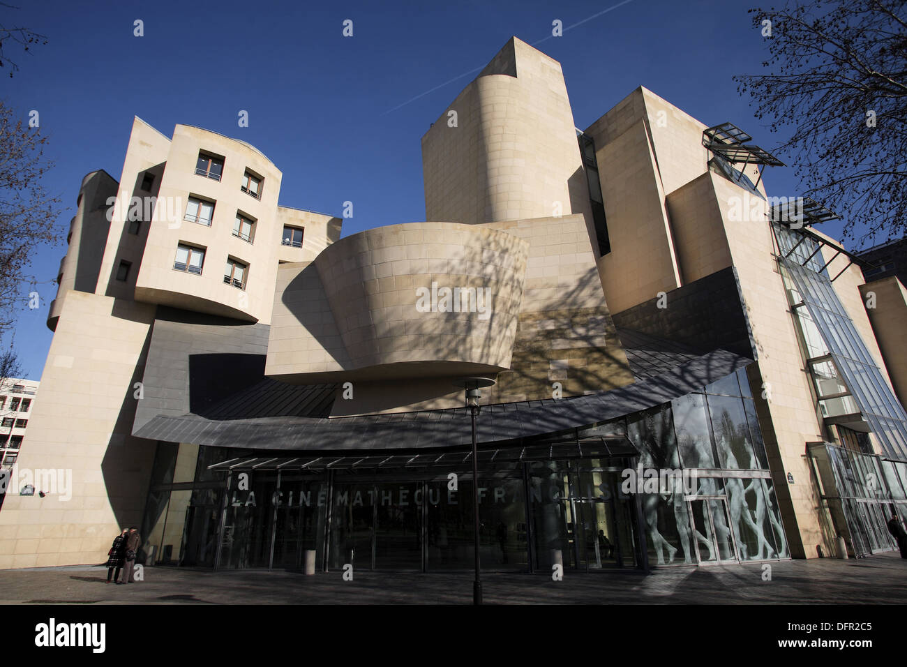 La Cinematheque Francaise housed in a building designed by Frank Gehry in Parc Bercy. Paris. France - Stock Image
