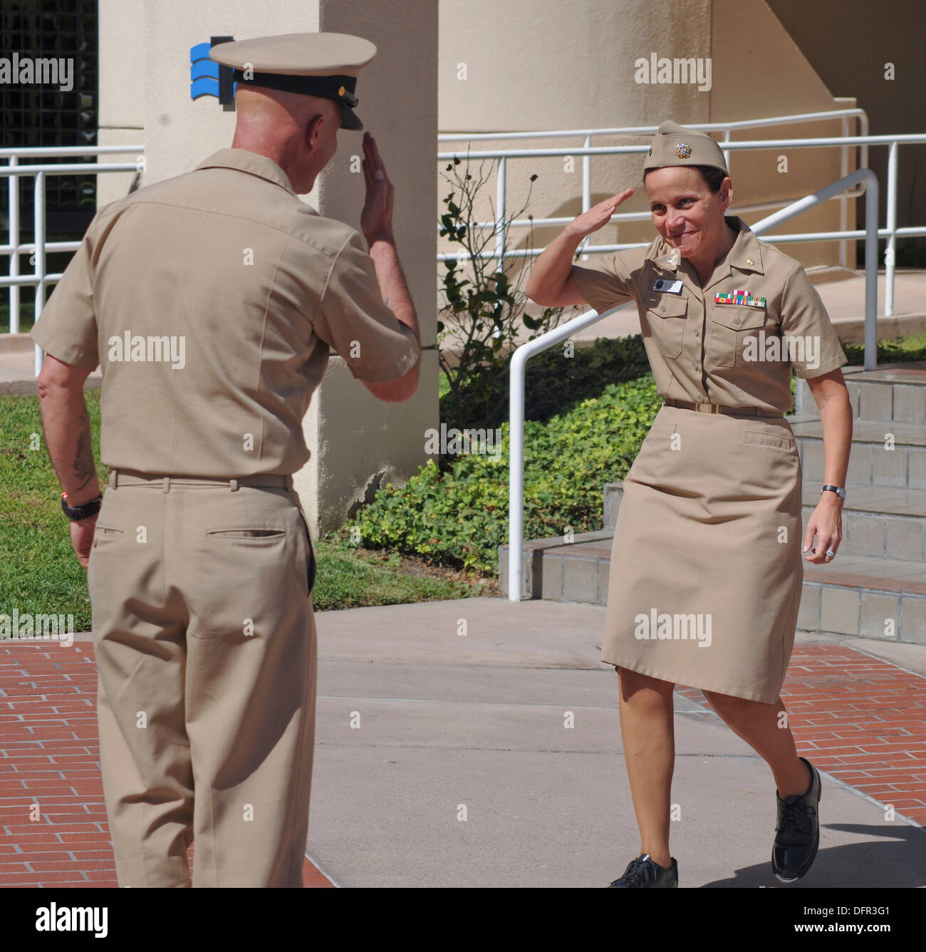 SAN DIEGO (Sept. 27, 2013) Cmdr. Cindy Murray, a senior nursing officer assigned to the Military Health Center at Naval Medical - Stock Image