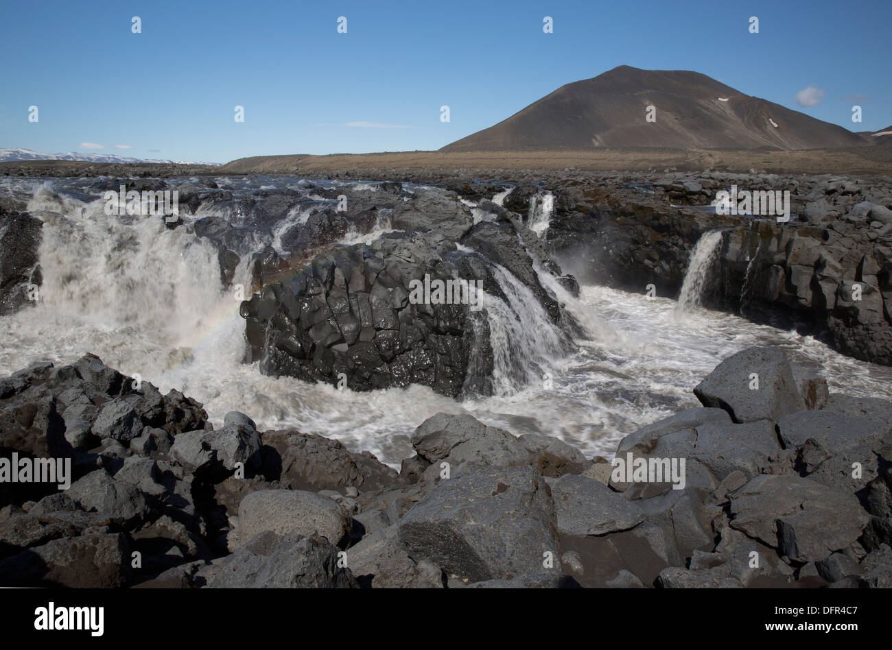 Jokulsa a Fjollum is the second longest river in Iceland (206 km) - Stock Image