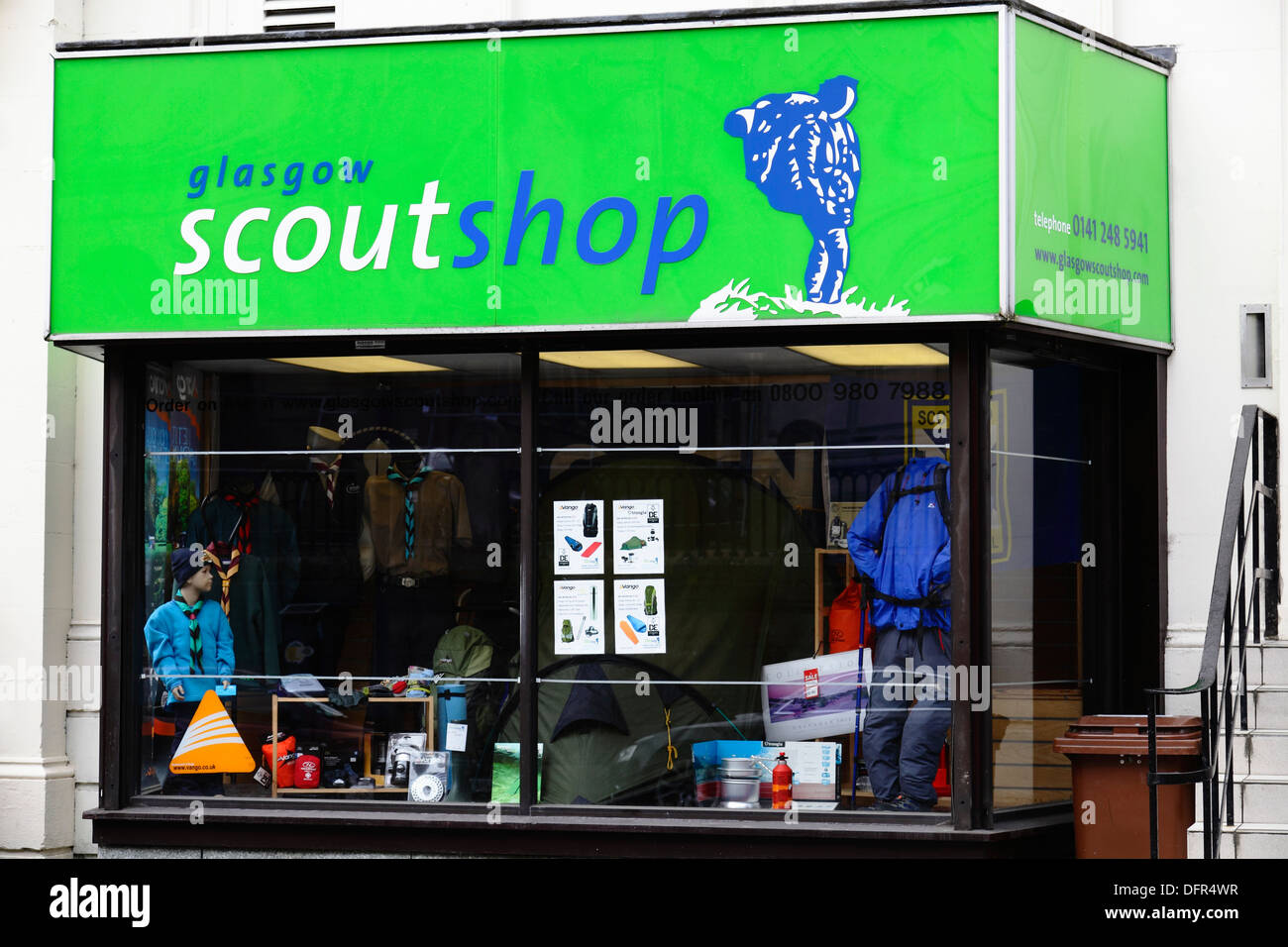 The Scout Shop in Glasgow city centre, Elmbank Street, Scotland, UK - Stock Image