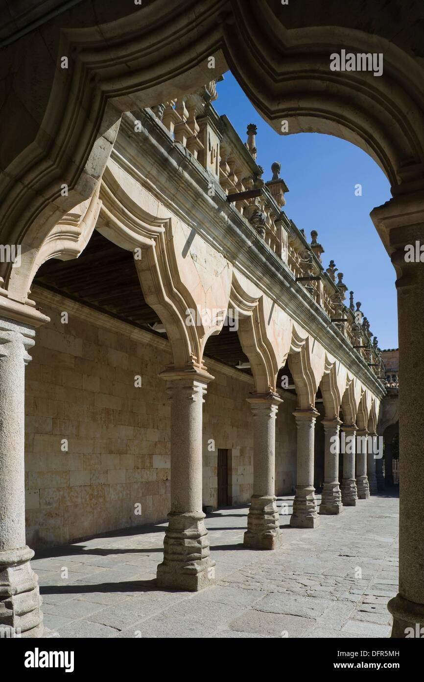 Salamanca University, Minor Schools yard, Patio de las Escuelas Menores, Salamanca, Castilla y León, Spain - Stock Image