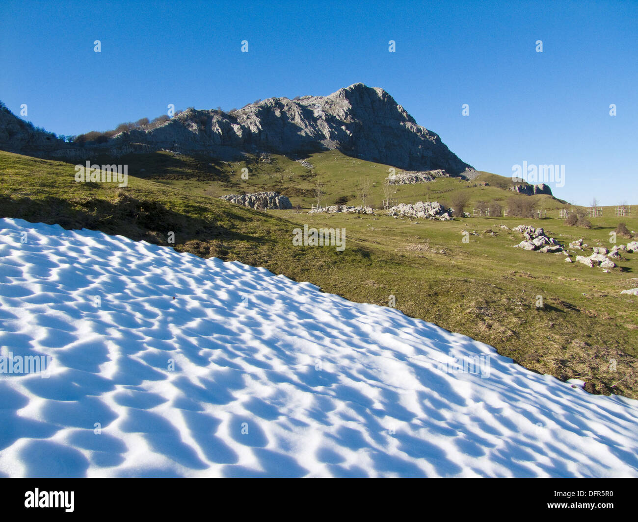 Mount Lekanda (1302 meters) in Gorbea Natural Park, Biscay, Basque Country, Spain. - Stock Image
