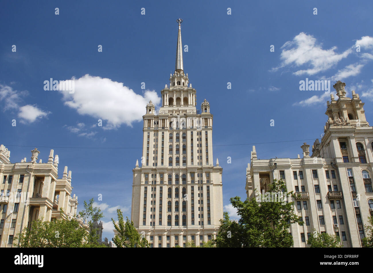 Stalinist architecture, Ukraina Hotel, Moscow, Russia - Stock Image