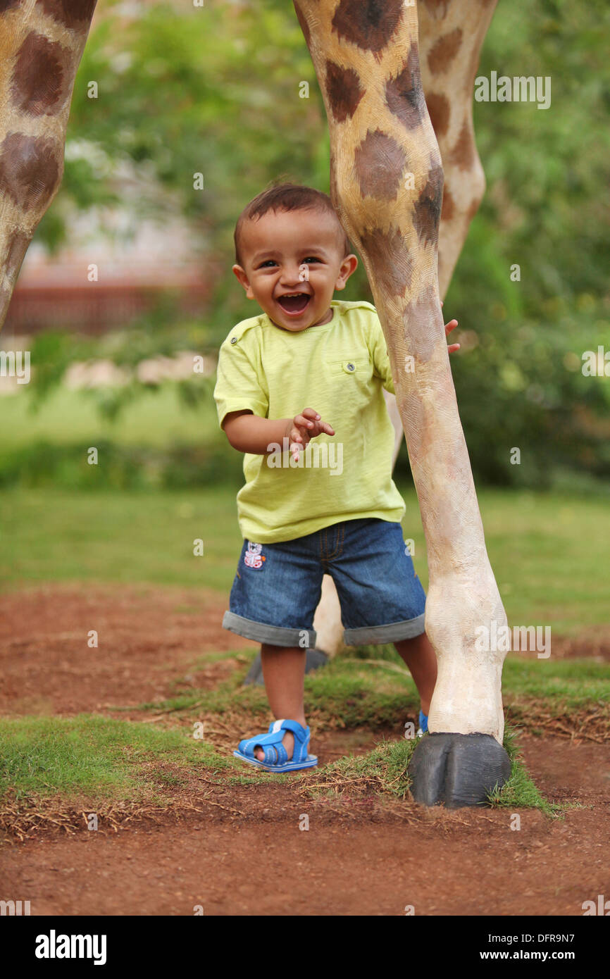 A 3 year old indian boy Stock Photo