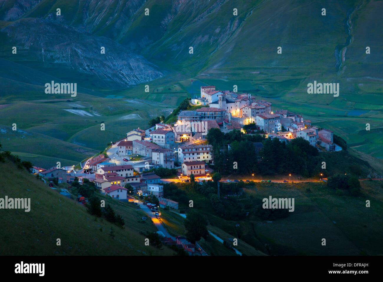 Italy Umbria Castelluccio di Norcia Monti Sibillini Pian Grande. - Stock Image
