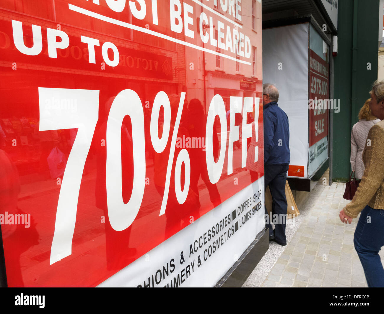 Closing Down Sale - Stock Image