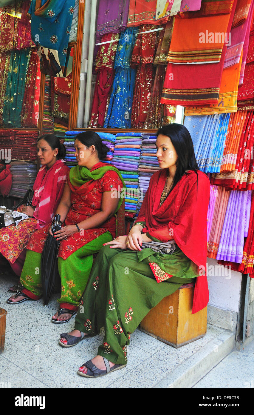 Women shopping clothe at the shop - Stock Image