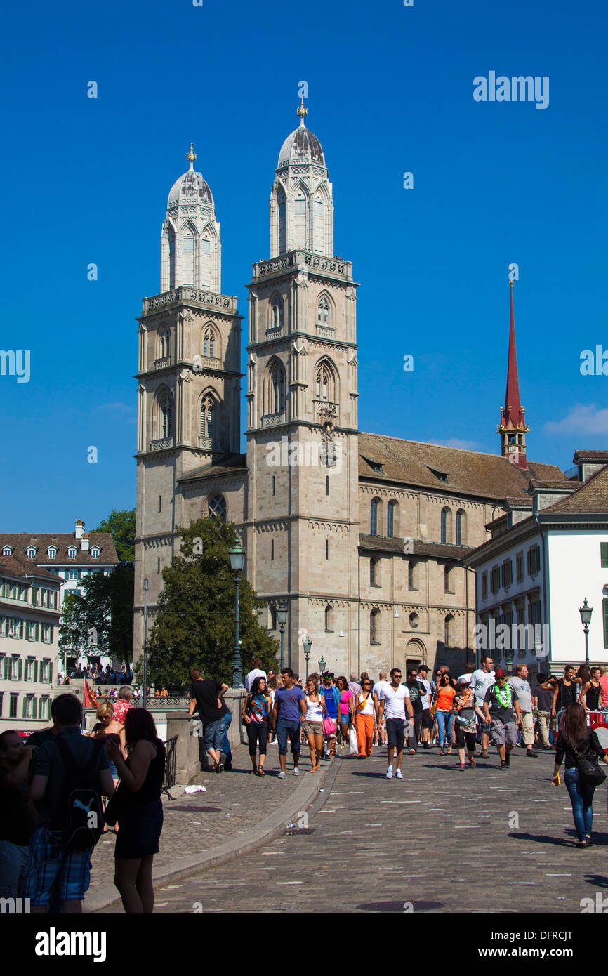 Switzerland Zurich Cathedral. - Stock Image