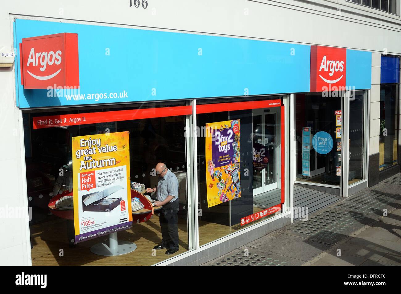 Exterior Of Argos Store In Kensington High Street London