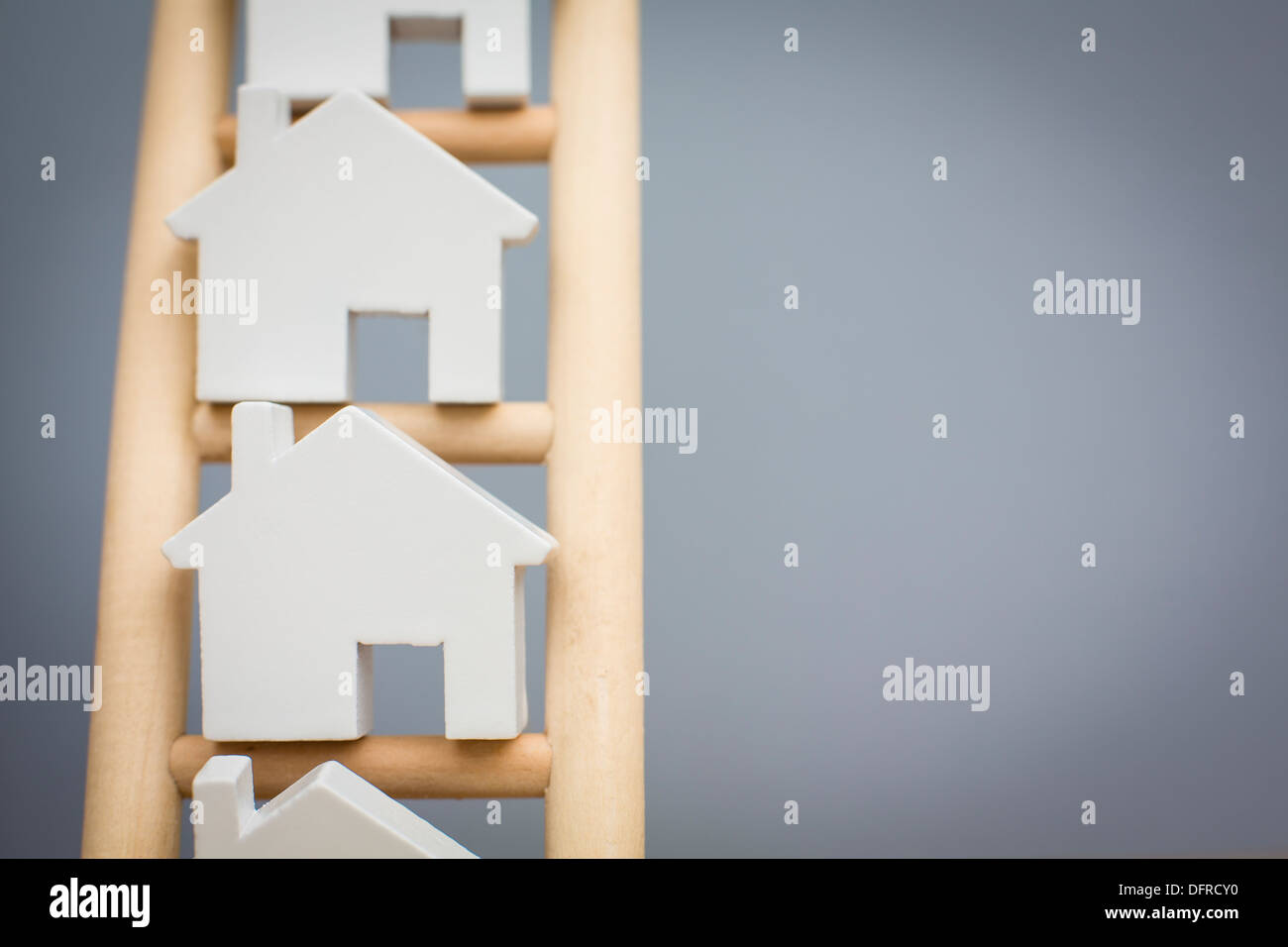 Concept Shot To Illustrate Property Ladder - Stock Image