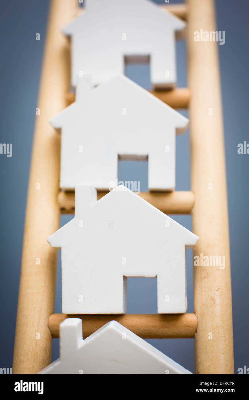 Concept Shot To Illustrate Property Ladder Stock Photo